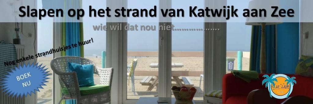 Slapen op het strand van Katwijk aan Zee banner